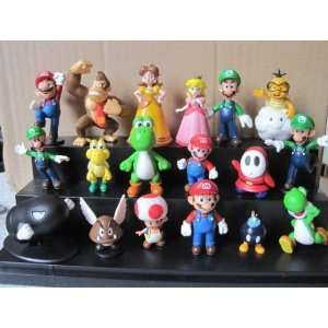 Super Mario Series Mini Figure Collection 18 Figures Pack