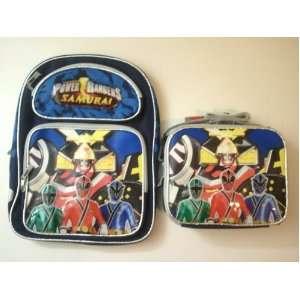 Power Rangers Samurai Sentai Medium 14 Backpack+Lunch Bag