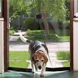 MAGNETIC MESH FLY SCREEN DOOR CURTAIN MAGNET CLOSURE PET DOG DOOR NEW