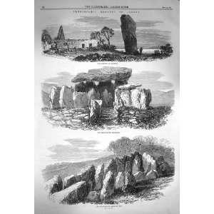 1870 Jersey Menhir Quesnel Pocquelaye Cromlech Ube Home & Kichen