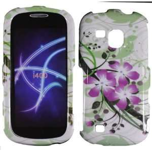 Hard Green Purple Flowers Case Cover Faceplate Protector