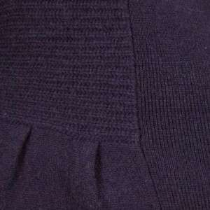 Sutton Studio Women Purple Cashmere No Close Cardigan L