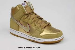NIKE Dunk High Premium SB Eric Koston Gold Red Deadstock MENS Size 9.5