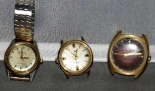Three Self Winding Watches Bulova 30 Jewel Bulova Sea King Paul