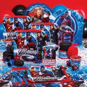 New Avengers Birthday Party set Plates, cups, banner, Thor Hulk