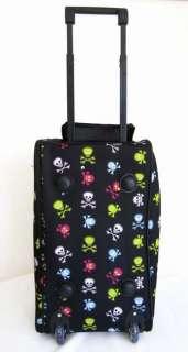 20Duffel/Tote Bag Rolling Luggage/Wheels Travel Skulls