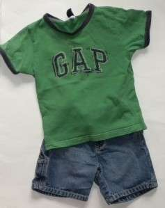 HUGE Lot Baby GAP & GYMBOREE Boys Shorts Shirts Tops Outfits Sz 18 24