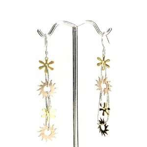 Dangle Earrings with Rhodium, 18K Gold andn Rose Gold Plated Jewelry