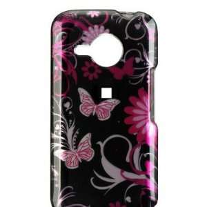 NEW PINK BUTTERFLY FLOWER HARD CASE COVER FOR VERIZON HTC