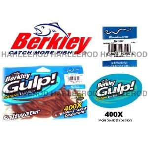 Berkley Saltwater Gulp Fishing Lures 5 Bloodworm Nat