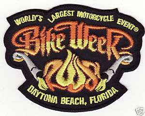 New 2008 Official Daytona Bike Week Motorcycle Patch