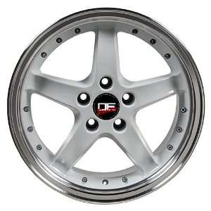 SALEEN STYLE WHITE FORD MUSTANG S281 17 INCH WHEELS RIMS Automotive
