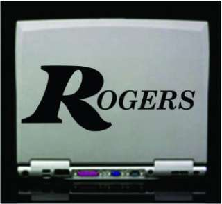 Set   Rogers Logo Bass Drum Vinyl Decals PAIR