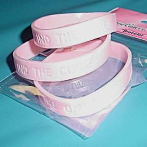100 FIND THE CURE Pink Rubber Bracelet Wristbands