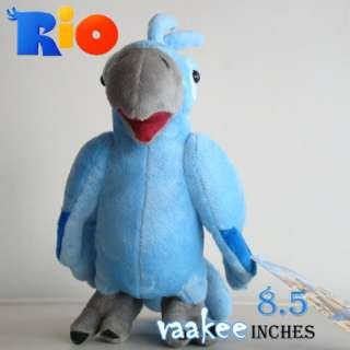 The Movie RIO Character Blu Bird Plush Toy Parrot Stuffed Animal Doll