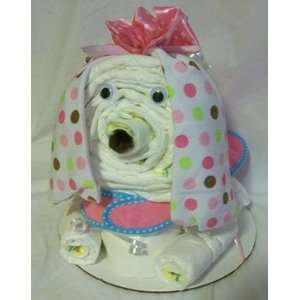 Girl Dog Diaper Cake: Baby