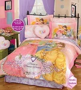 NW Girls Pink Disney Princess Diamond Comforter Sheets Bedding Set