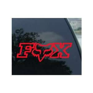 FOX RACING LOGO W/FACE   6 RED Decal   NOTEBOOK, LAPTOP, IPAD, WINDOW