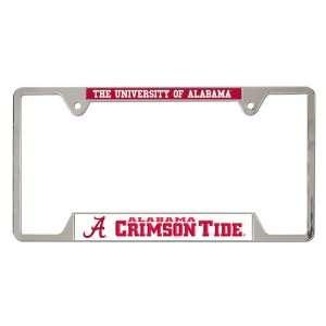 Alabama Crimson Tide Ncaa Chrome License Plate Frame