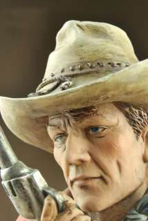 Resin Western Cowboy Bust Statue Figure 8.5High C