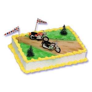 Motorcycle Cake Decoration Topper Set Kit