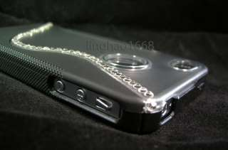 Swarovski Black TPU Hard Case Bumper For Verizon & AT&T Apple iPhone 4