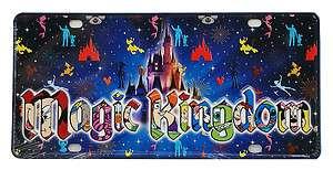 Disney World Magic Kingdom Logo Mickey & Friends Castle Car License