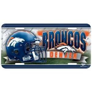 Denver Broncos License Plate   Metal Deluxe Graphics:
