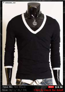 Doublju1 Mens Casual Best Longsleeve T shirt Collection