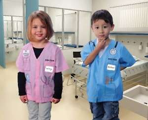 Doctor Dress Up Shirt Blue Pink Boys Girls Toddler Kids