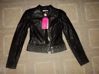 VERSACE for H&M Limited Edition Black Leather Studded Biker Jacket