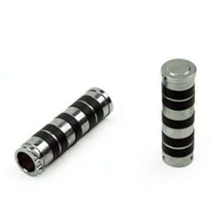 Fit Motorcycle Powerboat Chrome and Rubber Handlebar Hand Grips