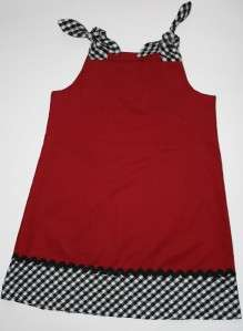 Girls Alabama Houndstooth & Crimson Dress Size 3