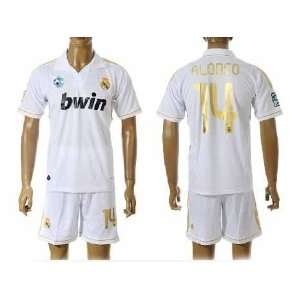 real madrid jersey soccer 2012 alonso #14 away black football