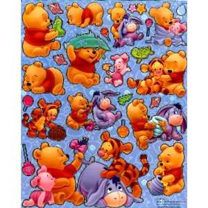 Baby Pooh & Friends playing Disney Sticker Sheet E018 ~ Baby Piglet