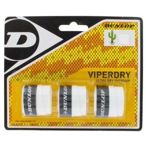Dunlop Viperdry White 3 Pack Ultra Dry Tennis Overgrip