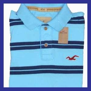 Hollister Mens Striped Logo Polo Shirt Size M L Style 122