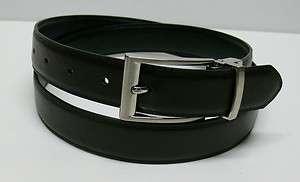 New Mens Black/Brown Reversible Dress Leather Belt E24