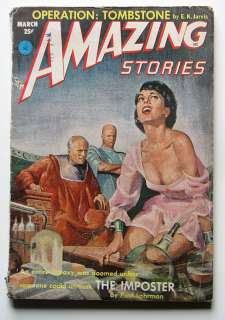 AMAZING STORIES Pulp Magazine Mar. 1953