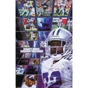 Emmitt Smith Dallas Cowboys Collage Poster Home & Kitchen