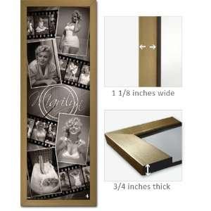 Gold Framed Marilyn Monroe Poster 12x36 Collage WP6413