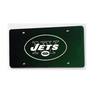 NEW YORK JETS (GREEN) LASER CUT AUTO TAG Sports