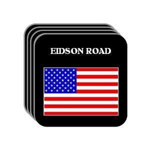 US Flag   Eidson Road, Texas (TX) Set of 4 Mini Mousepad