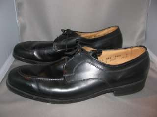 MENS ALLEN EDMONDS EDEN ROC BLACK LEATHER OXFORDS SHOES 11 AAA