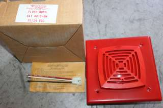 EST GS 881D AW RED FIRE ALARM 20/24VDC FLUSH MOUNT HORN NIB