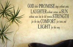 GOD Promise Vinyl Lettering Wall Decor Quote Sticky Art