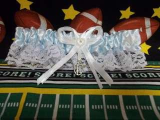 Wedding Bridal Prom Football Sports Team Garter Blue