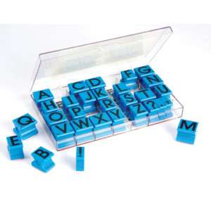 ALPHABET RUBBER STAMP SET EI 1470 BRAND NEW 086002014702