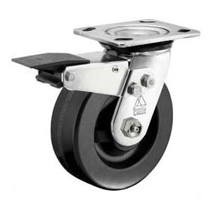 Bassick Prism Stainless Steel Total Lock Swivel Caster, Phenolic   6