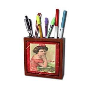 You Be My Valentine   Tile Pen Holders 5 inch tile pen holder Office